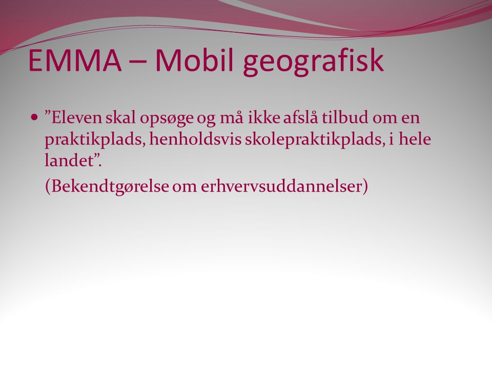 EMMA – Mobil geografisk