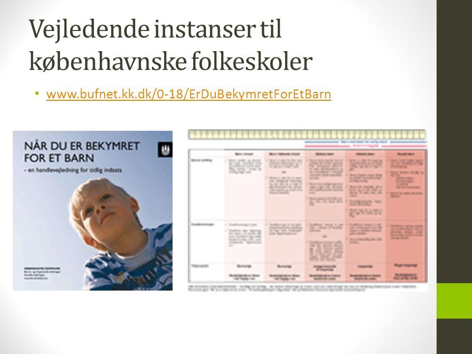 Vejledende instanser til københavnske folkeskoler