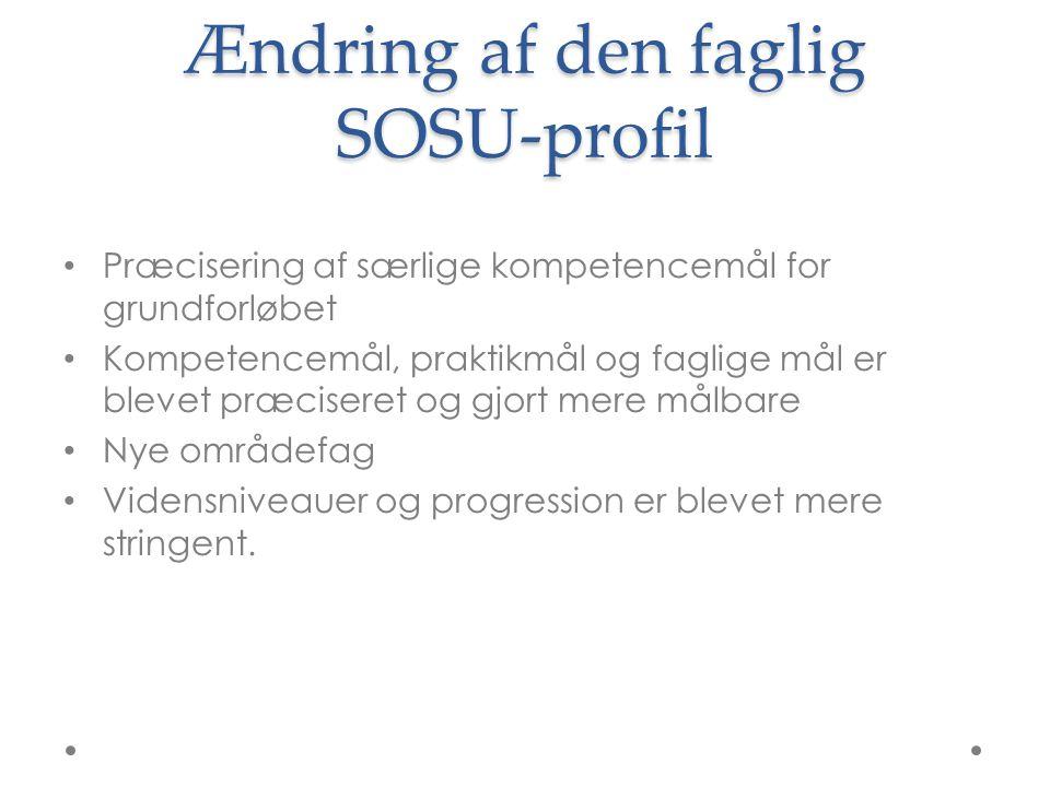 Ændring af den faglig SOSU-profil