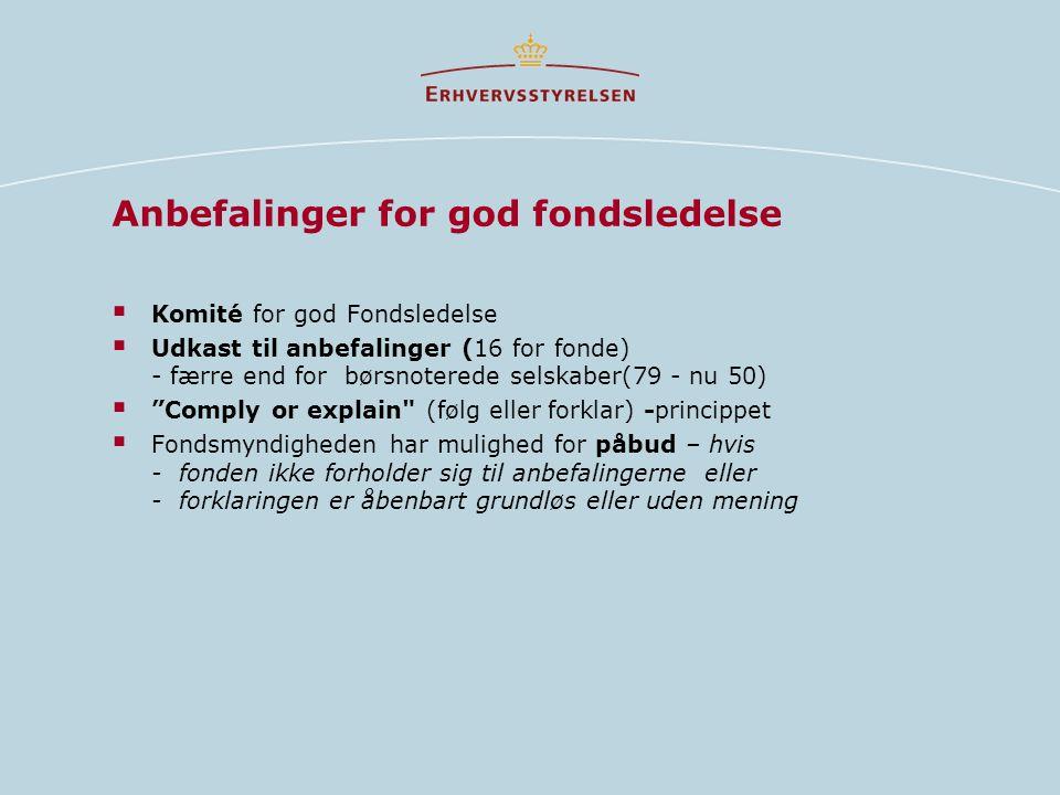Anbefalinger for god fondsledelse