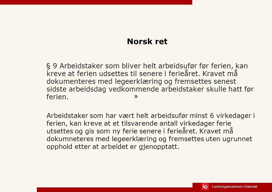Norsk ret