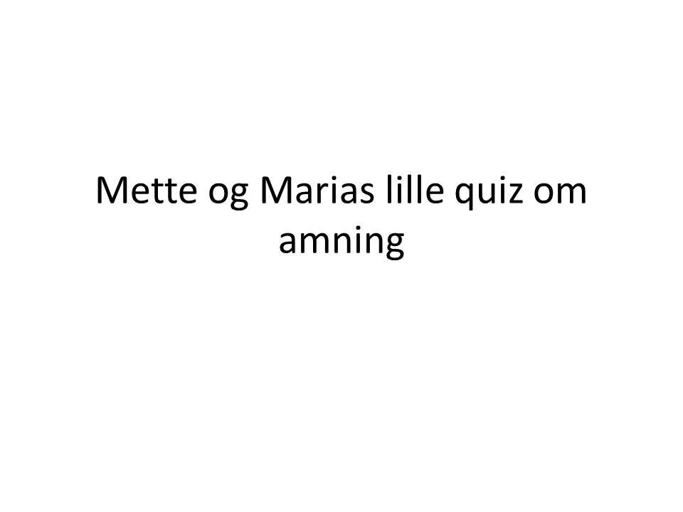 Mette og Marias lille quiz om amning