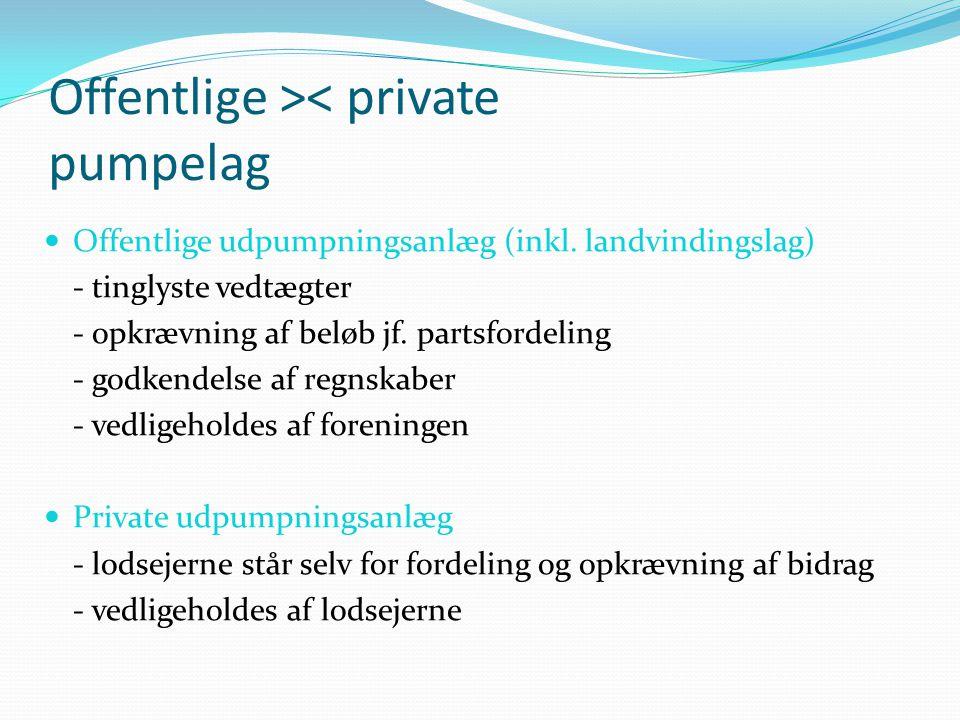 Offentlige >< private pumpelag