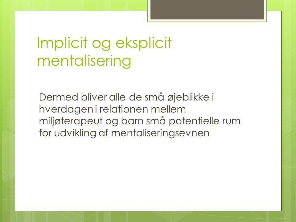 Implicit og eksplicit mentalisering