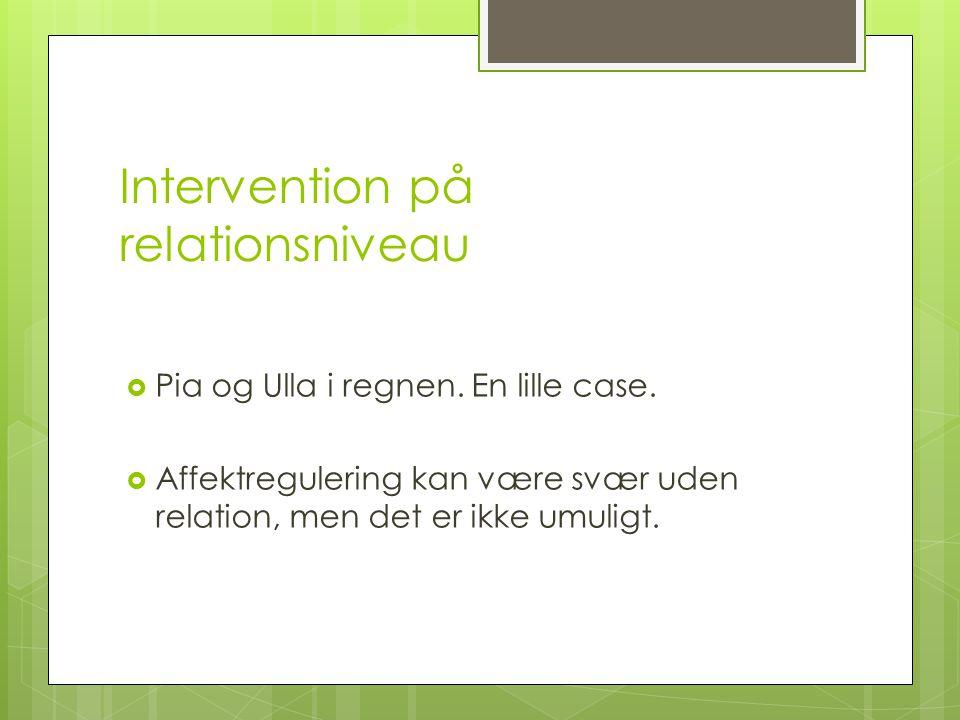 Intervention på relationsniveau