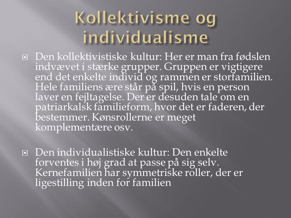 Kollektivisme og individualisme