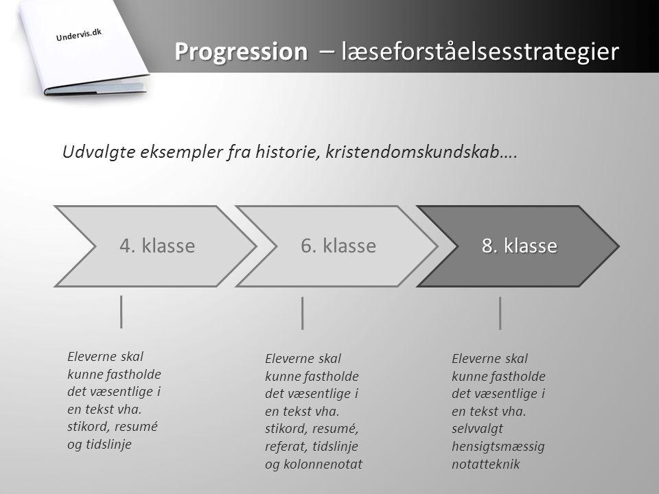 Progression – læseforståelsesstrategier