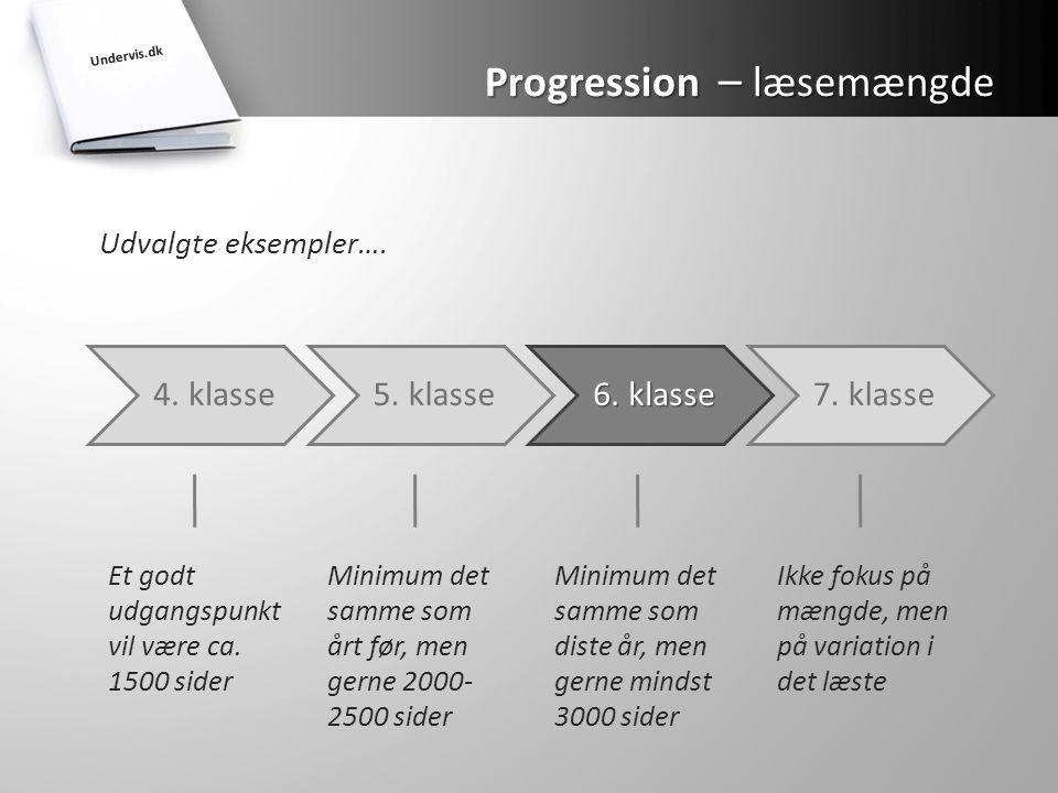 Progression – læsemængde