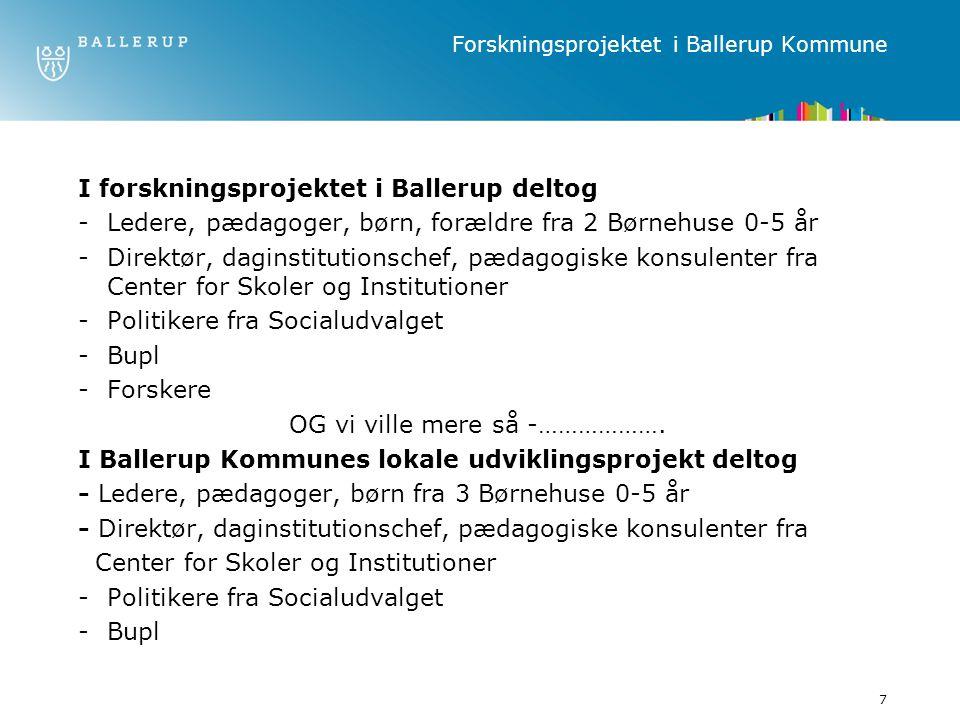 Forskningsprojektet i Ballerup Kommune