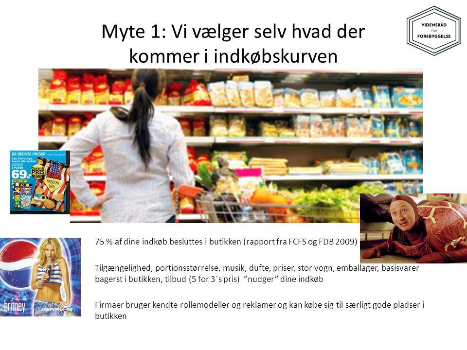 Myte 1: Vi vælger selv hvad der kommer i indkøbskurven