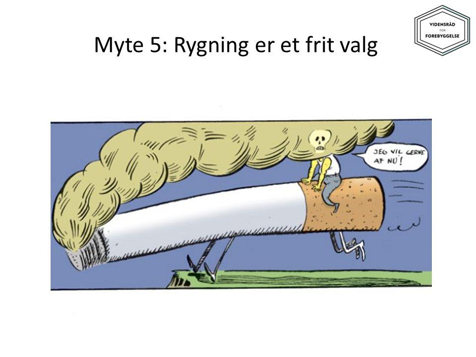 Myte 5: Rygning er et frit valg