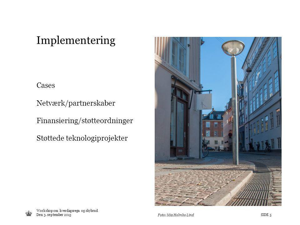 Implementering Cases Netværk/partnerskaber