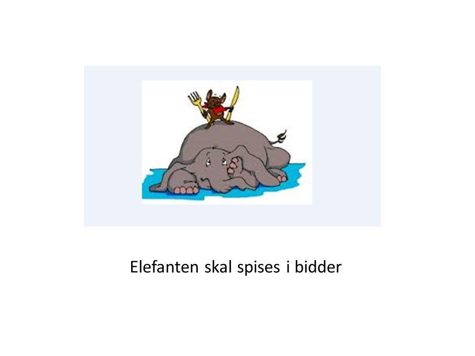 Elefanten skal spises i bidder