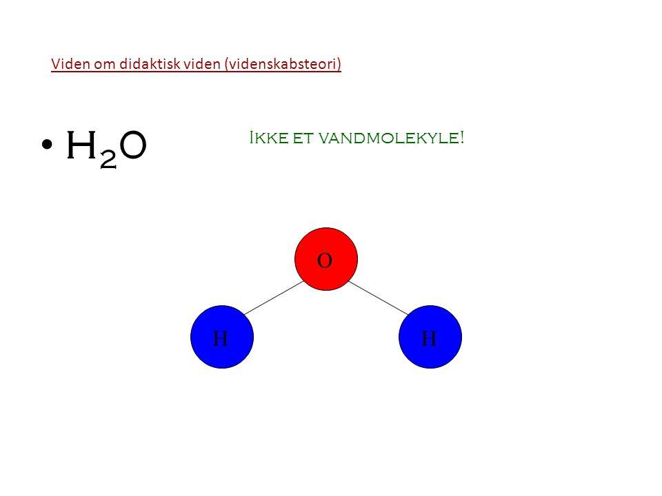 H20 O H H Ikke et vandmolekyle!