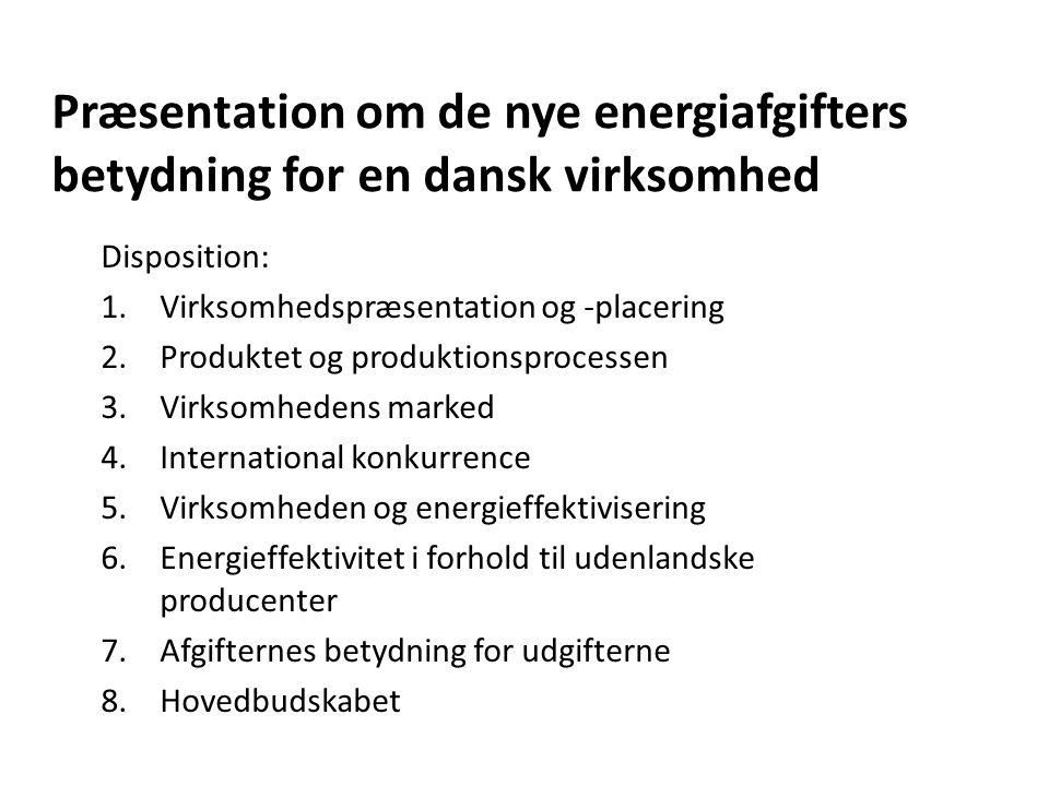 Præsentation om de nye energiafgifters betydning for en dansk virksomhed