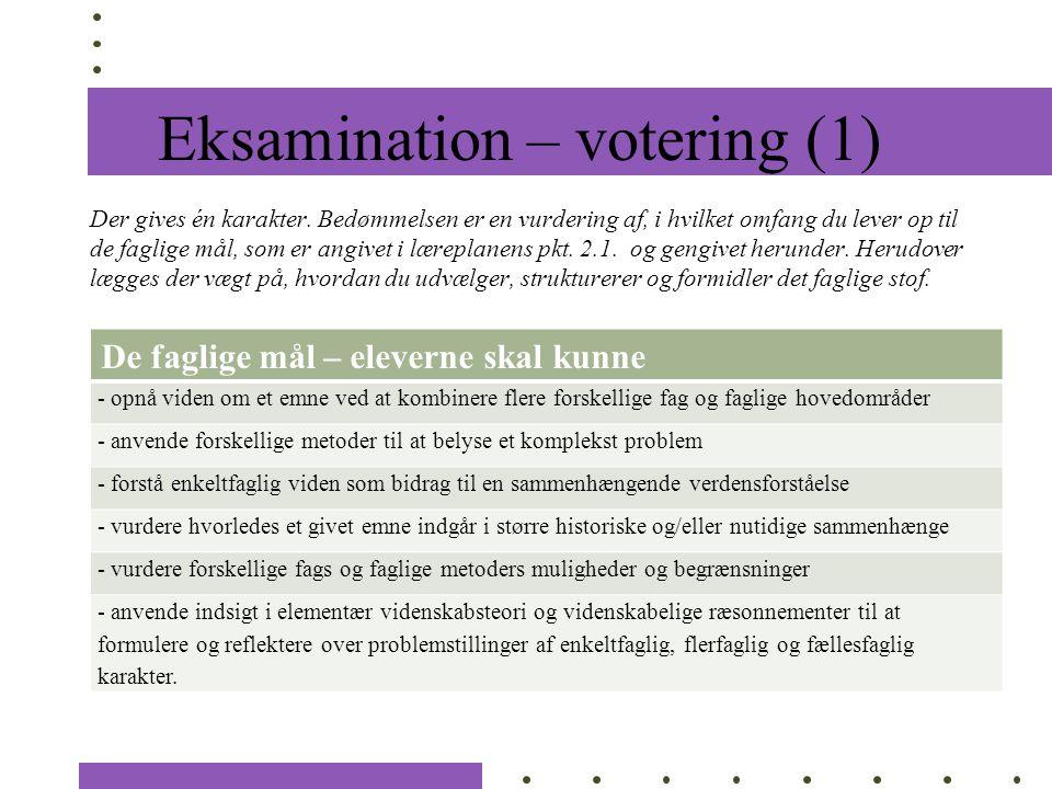 Eksamination – votering (1)