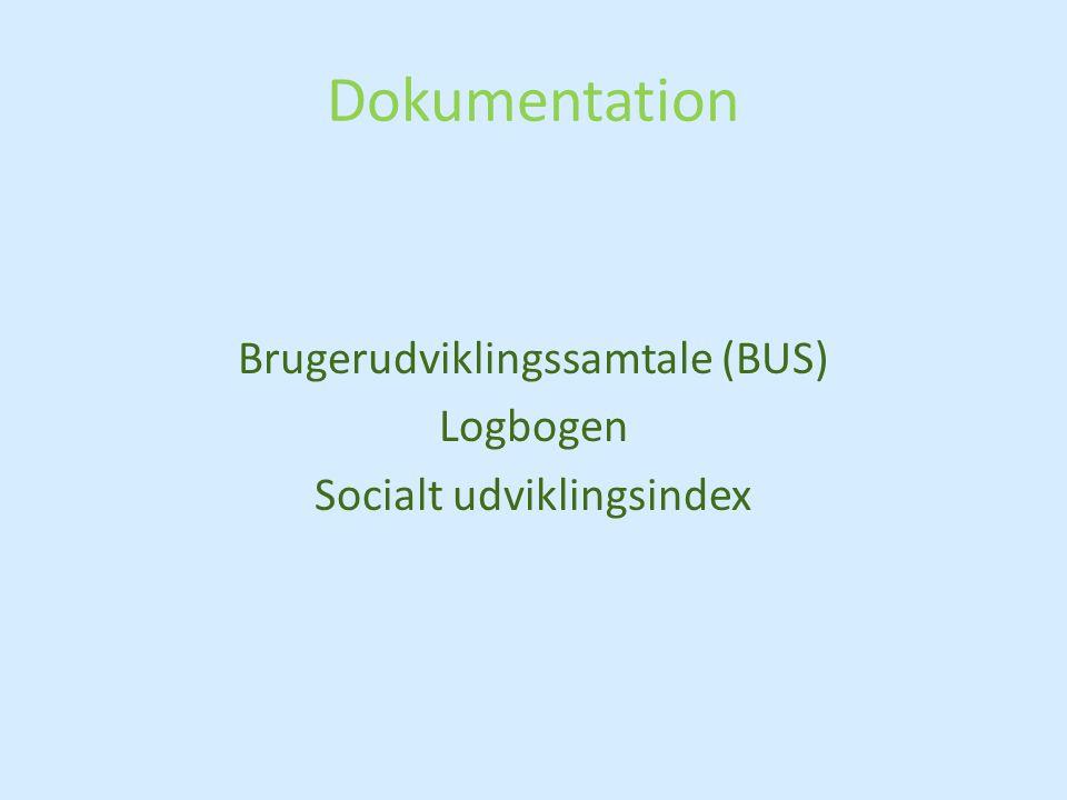 Brugerudviklingssamtale (BUS) Logbogen Socialt udviklingsindex