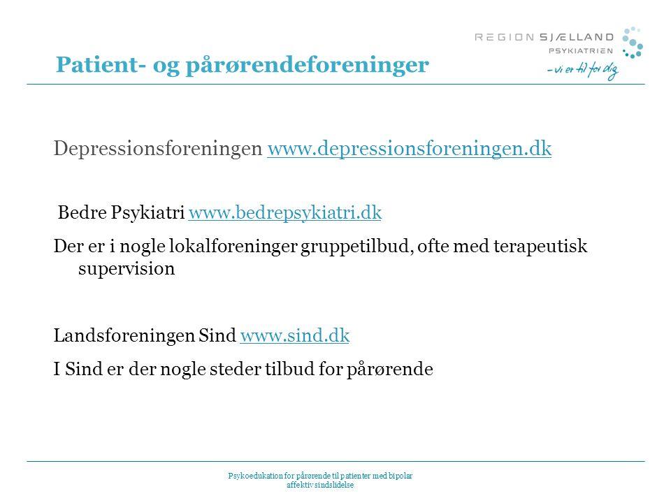 Patient- og pårørendeforeninger