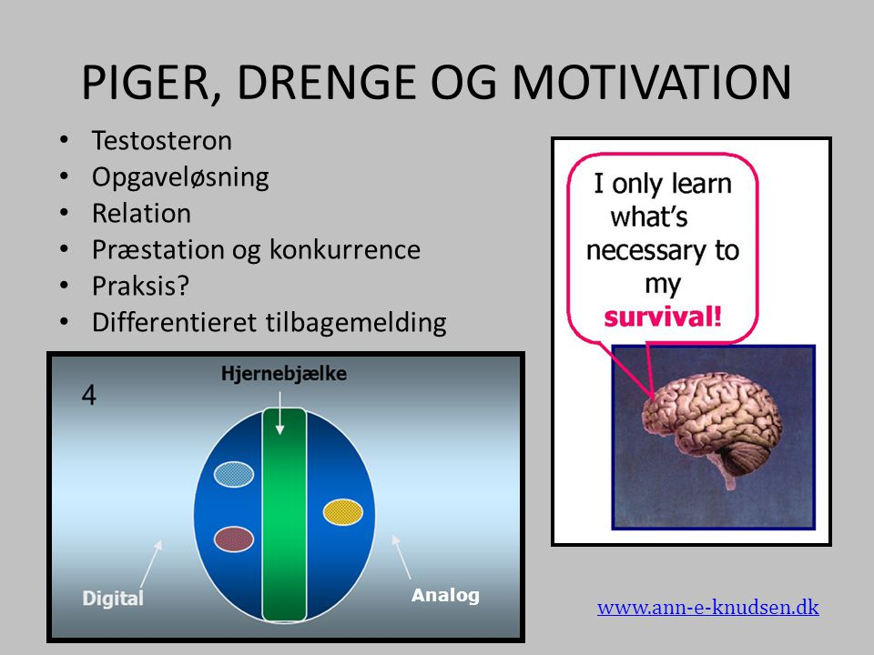 PIGER, DRENGE OG MOTIVATION