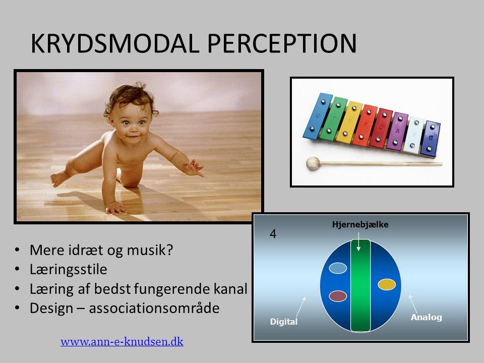 KRYDSMODAL PERCEPTION