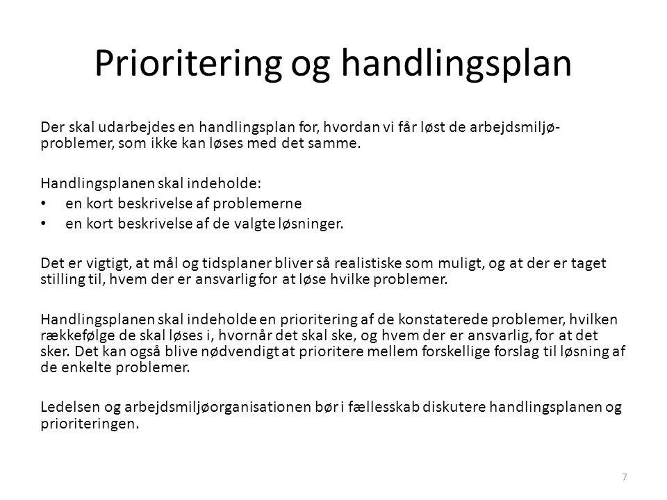Prioritering og handlingsplan