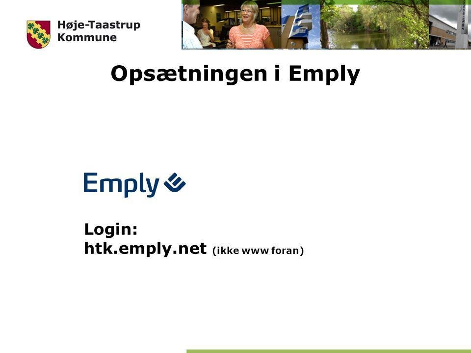Opsætningen i Emply Login: htk.emply.net (ikke www foran)