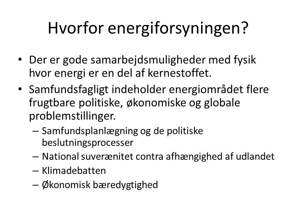 Hvorfor energiforsyningen