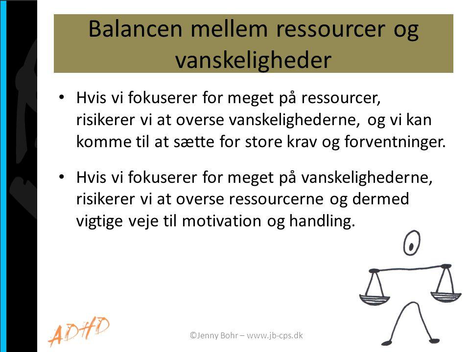 Balancen mellem ressourcer og vanskeligheder