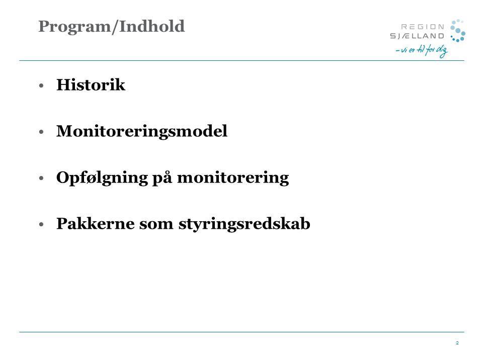 Opfølgning på monitorering Pakkerne som styringsredskab