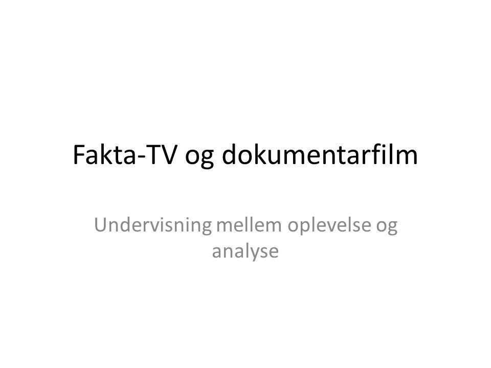 Fakta-TV og dokumentarfilm