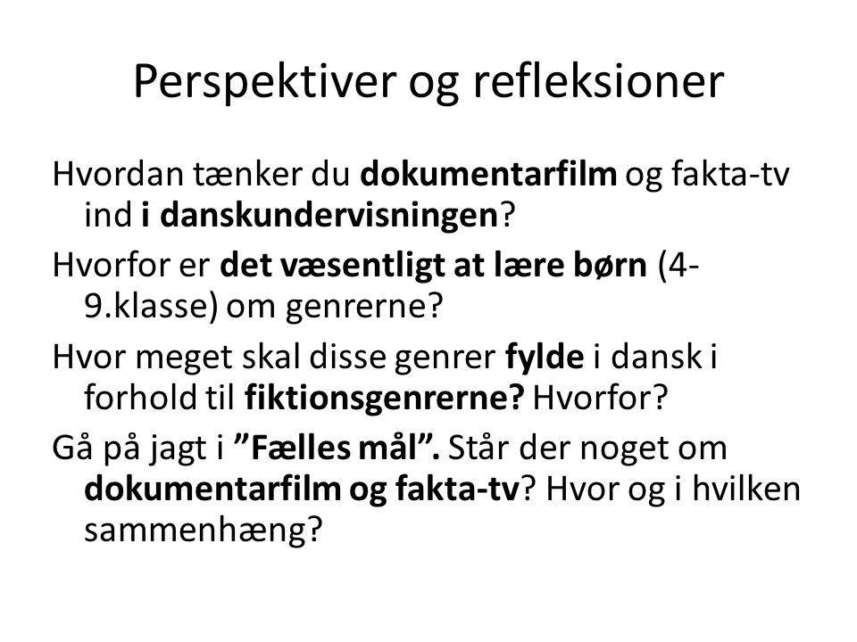 Perspektiver og refleksioner