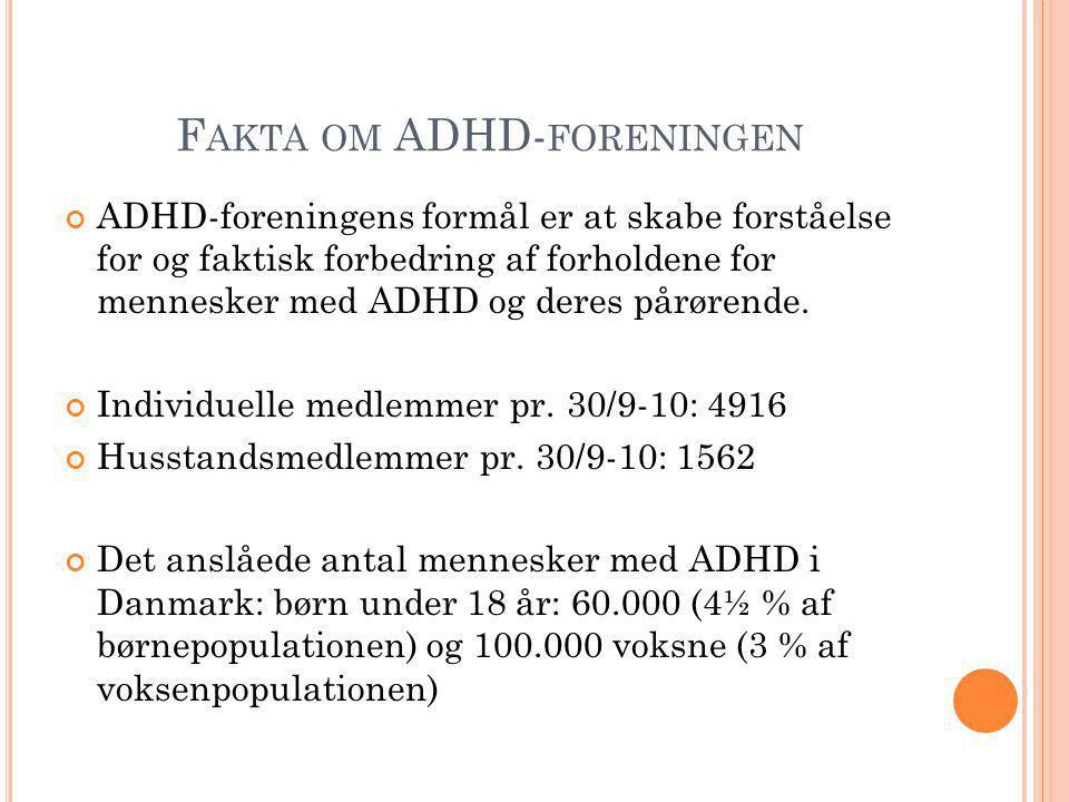 Fakta om ADHD-foreningen