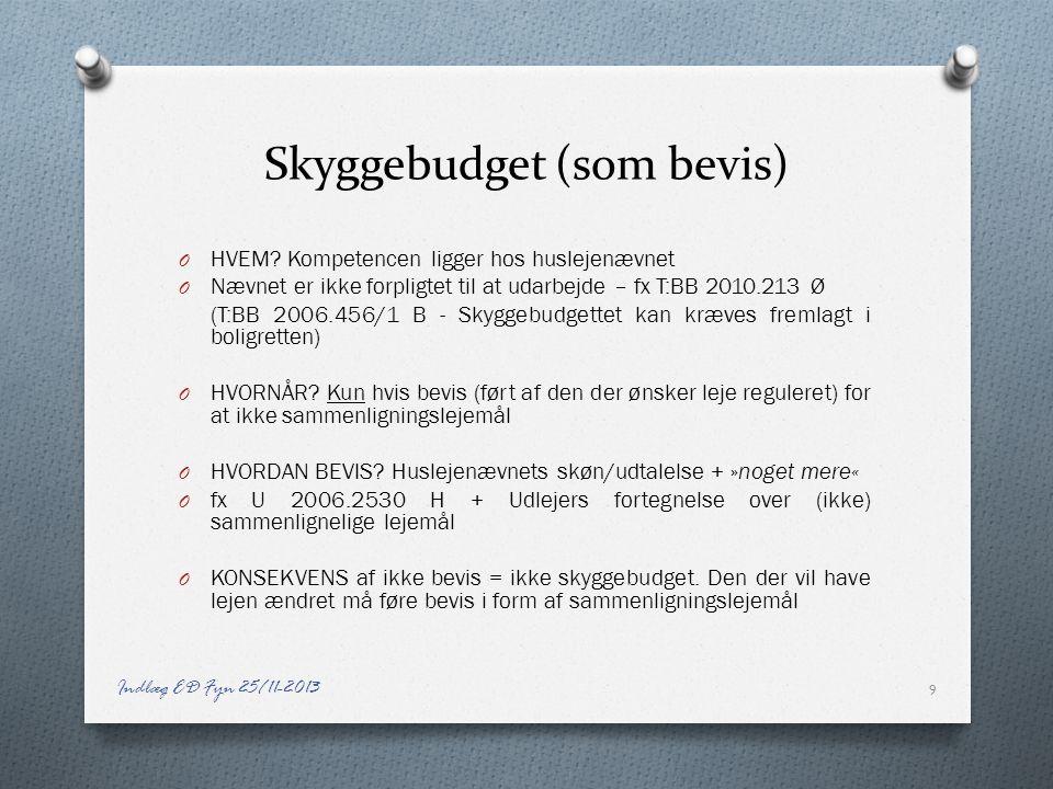 Skyggebudget (som bevis)