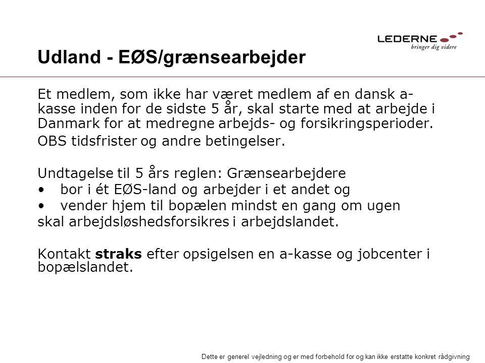 Udland - EØS/grænsearbejder