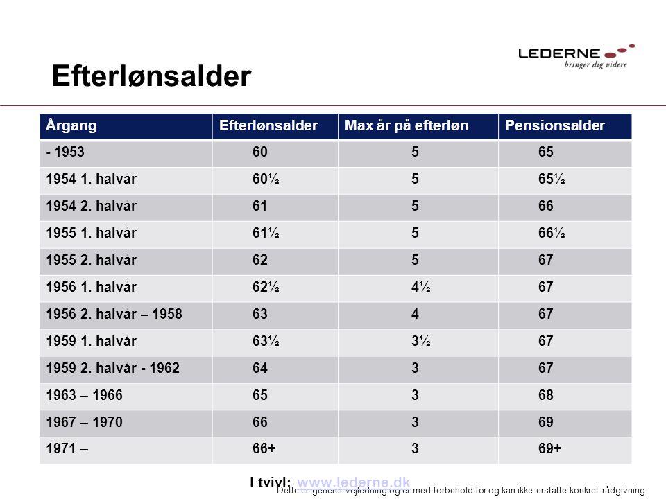 Efterlønsalder I tvivl: www.lederne.dk Årgang Efterlønsalder