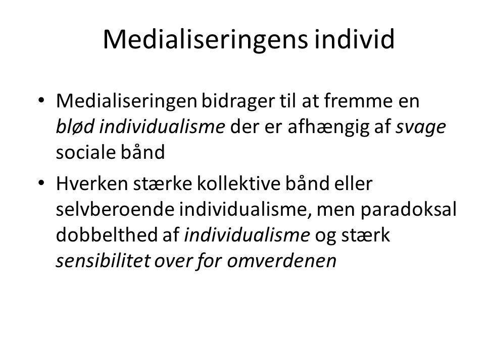 Medialiseringens individ