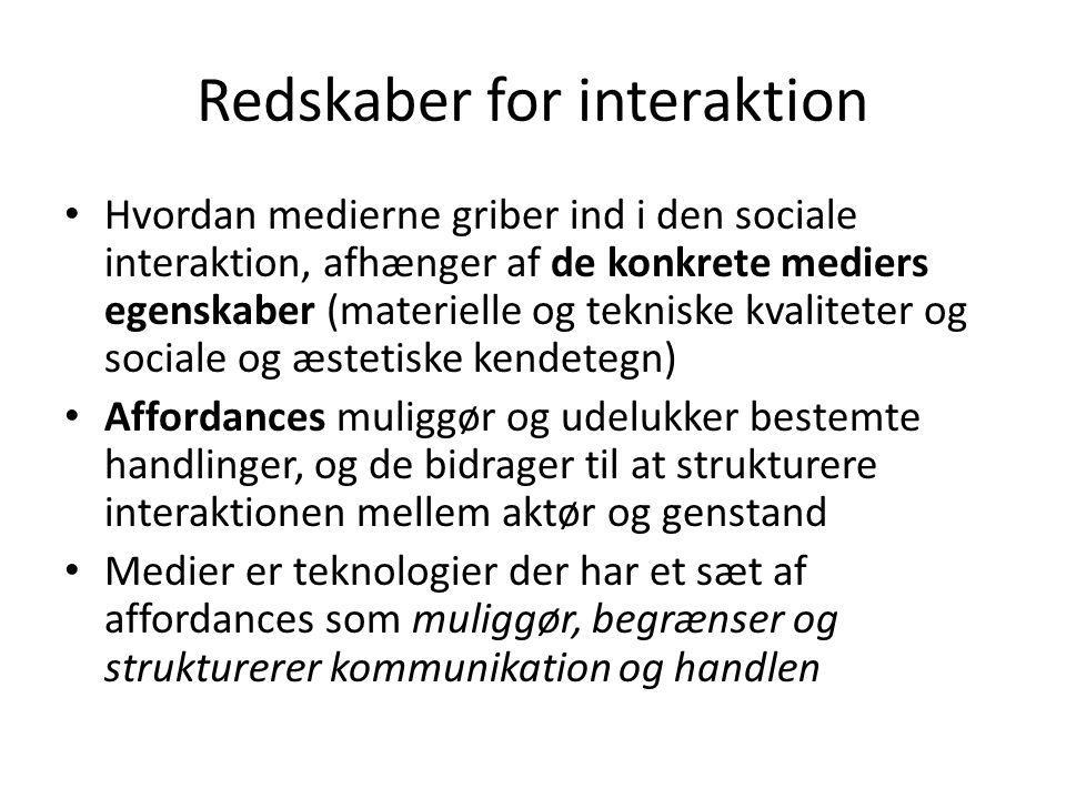 Redskaber for interaktion