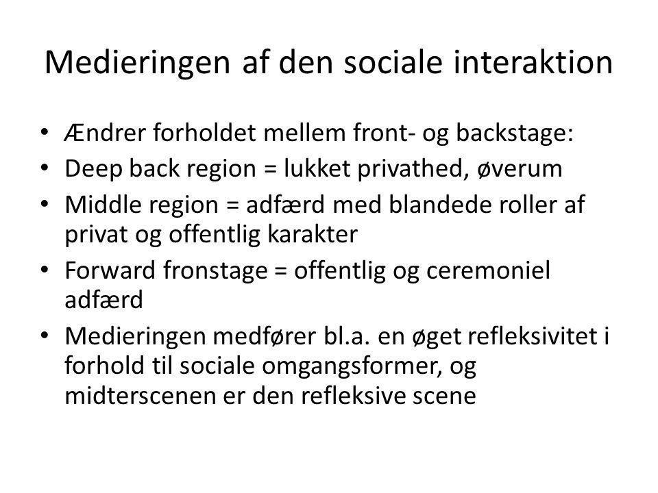 Medieringen af den sociale interaktion