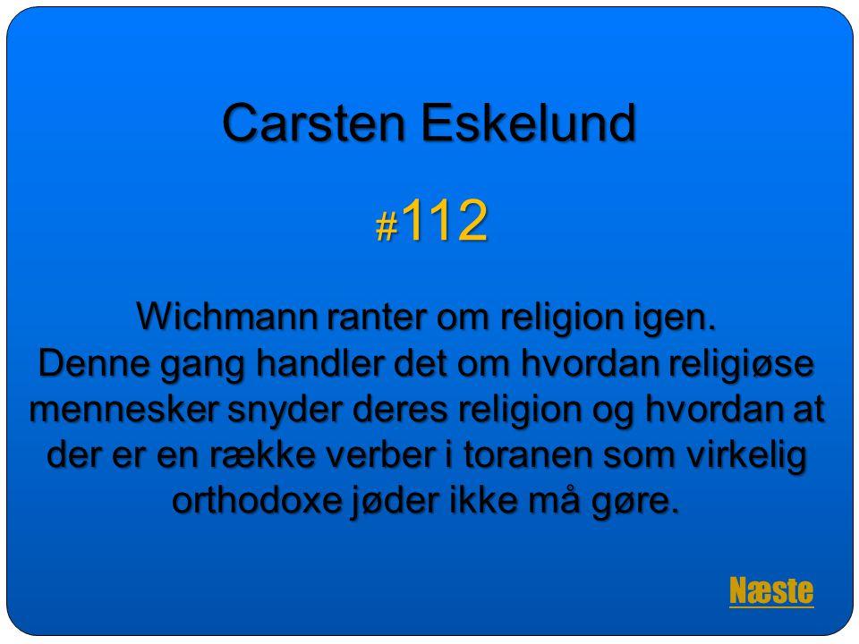 Wichmann ranter om religion igen.