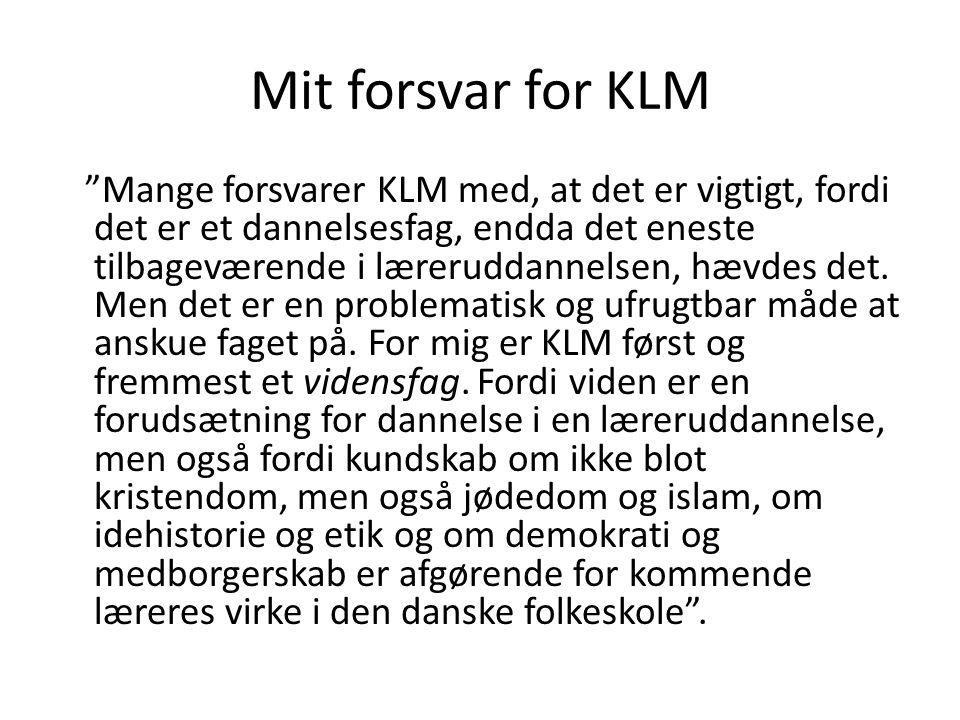 Mit forsvar for KLM