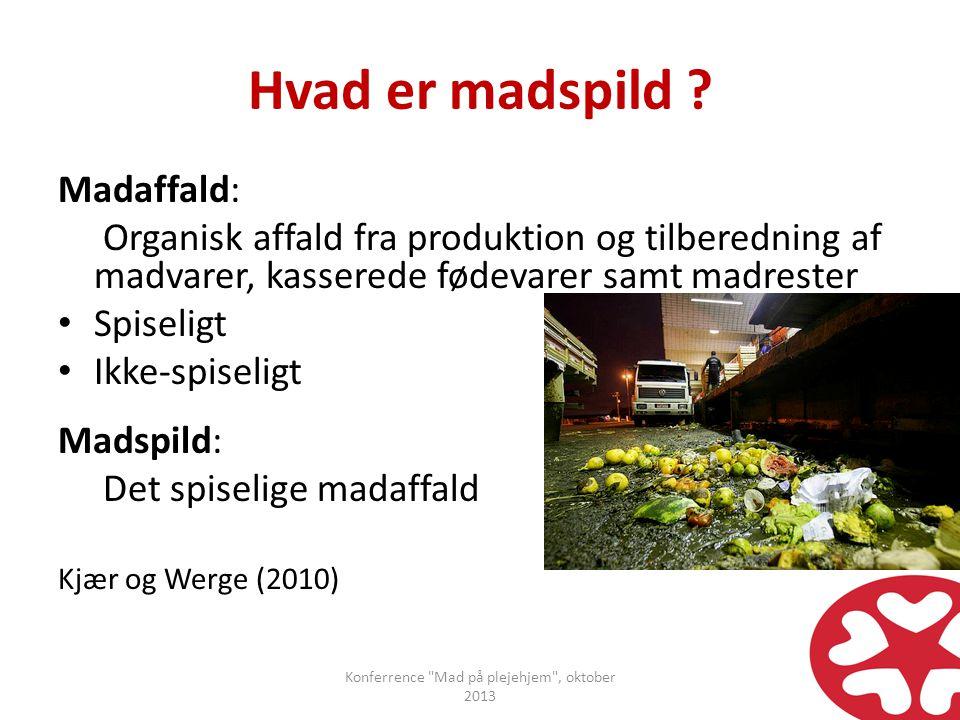 Konferrence Mad på plejehjem , oktober 2013