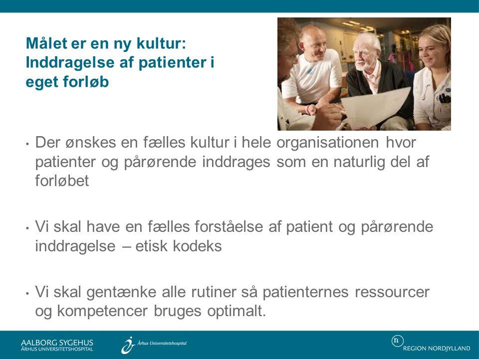 Målet er en ny kultur: Inddragelse af patienter i eget forløb