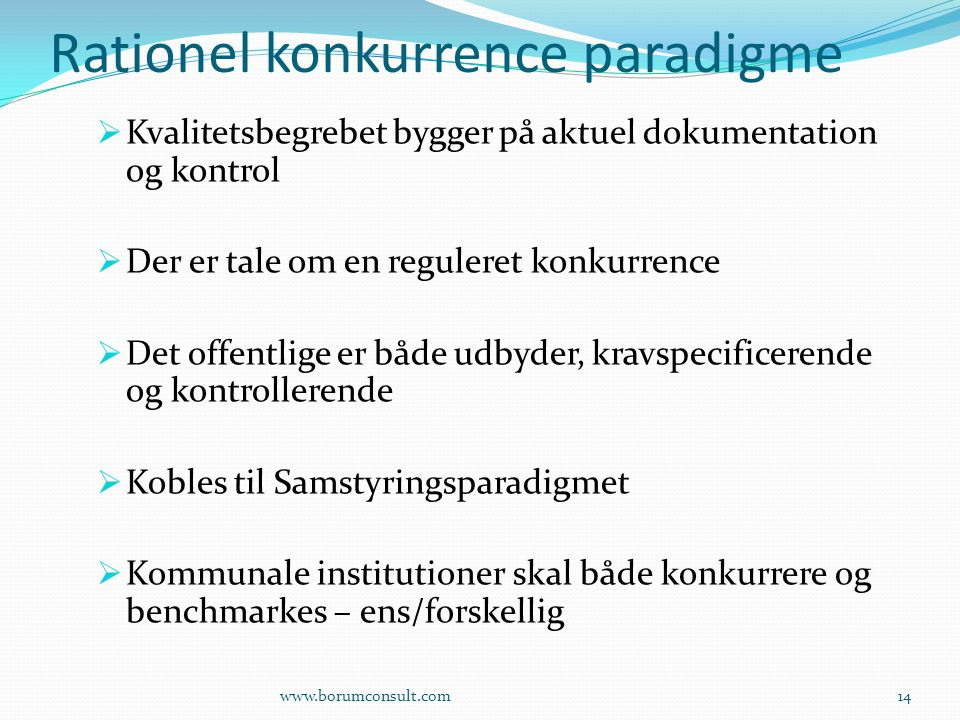 Rationel konkurrence paradigme