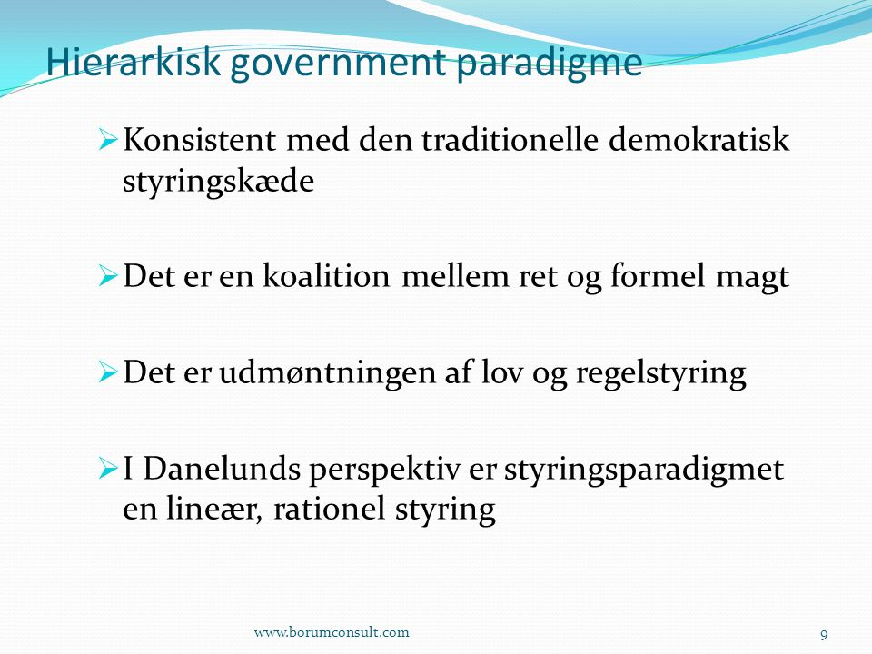 Hierarkisk government paradigme