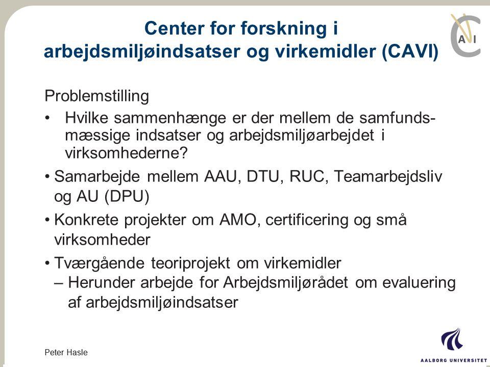 Center for forskning i arbejdsmiljøindsatser og virkemidler (CAVI)