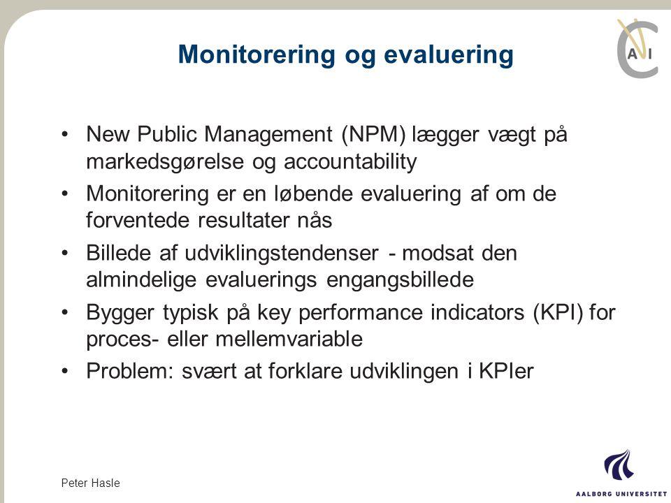 Monitorering og evaluering