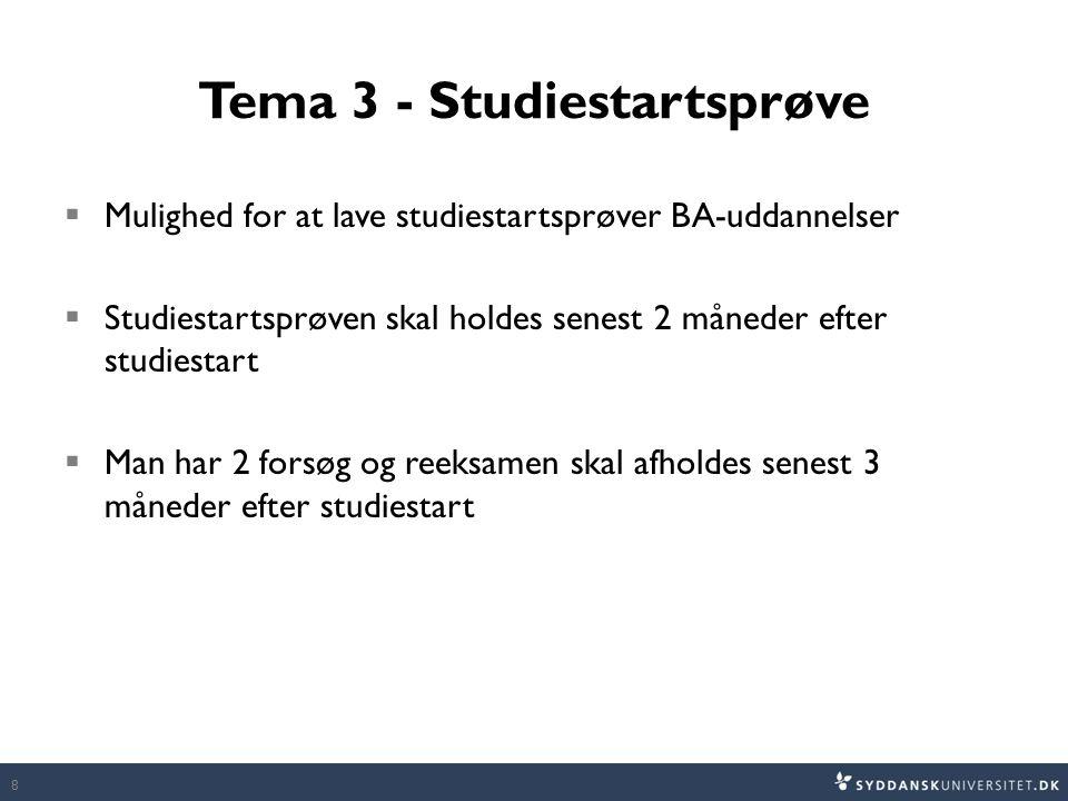 Tema 3 - Studiestartsprøve