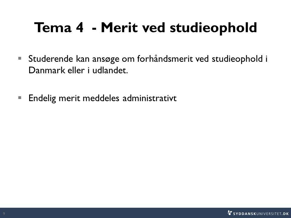 Tema 4 - Merit ved studieophold
