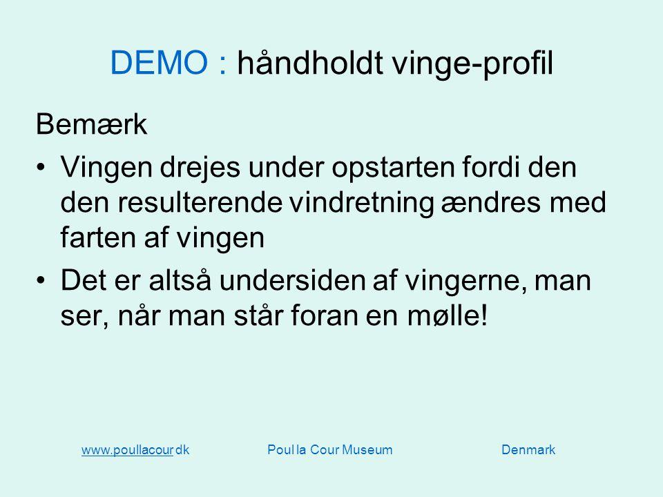 DEMO : håndholdt vinge-profil