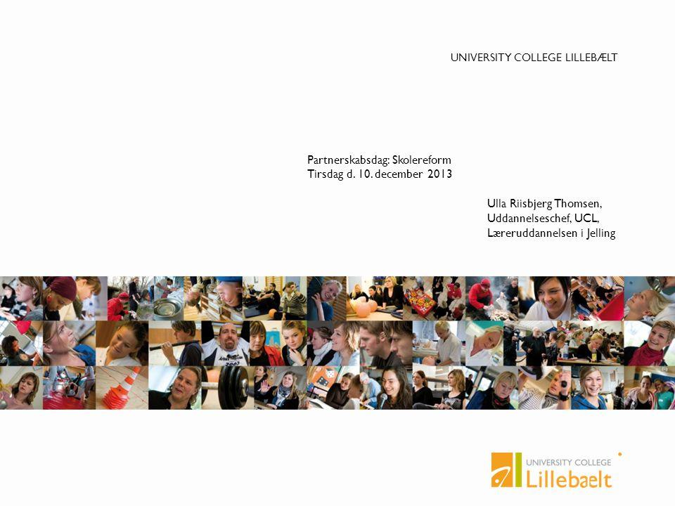 Partnerskabsdag: Skolereform Tirsdag d. 10